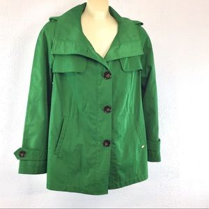 Ellen Tracy kelly green rain/weather jacket
